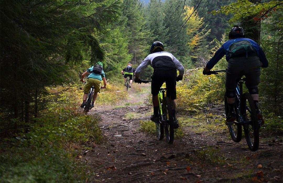 Build MTB skills by riding with better riders