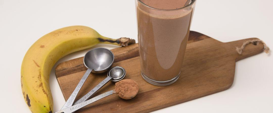 Homemade Chocolate Protein Smoothie