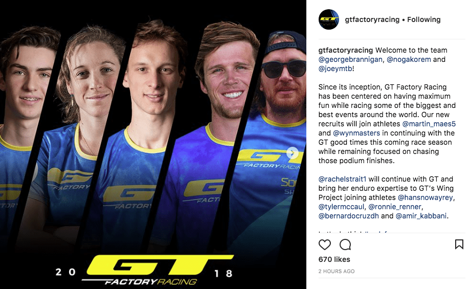 GT Factory Racing team announcement