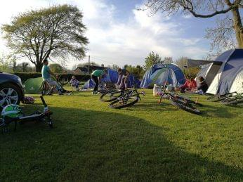 Campers at Bike Park Ireland