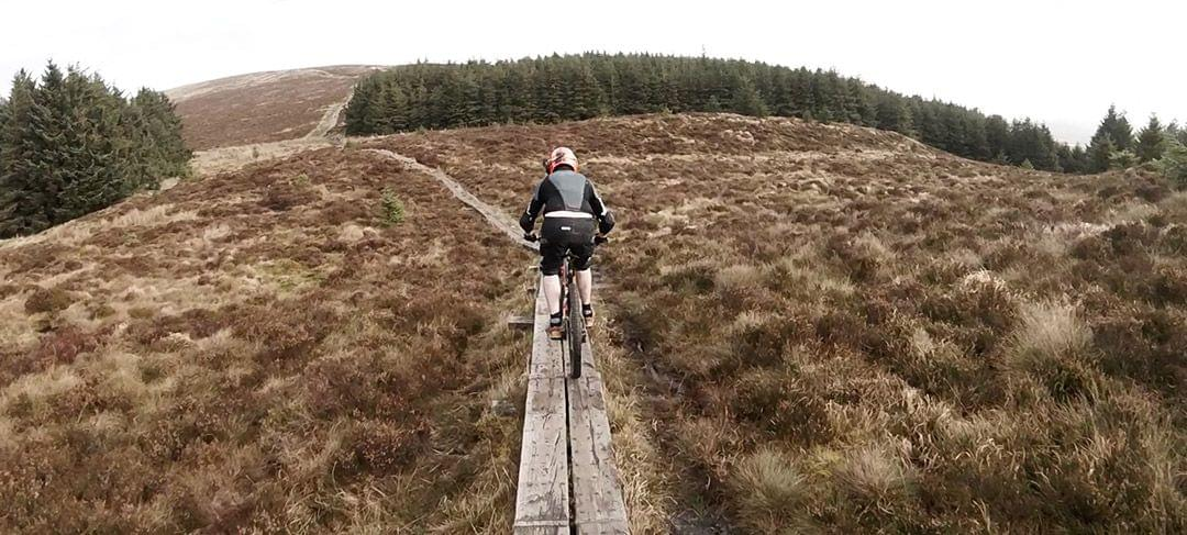 Wicklow mountain bike boardwalk climb