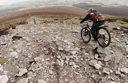 downhill mountain biking wicklow ireland