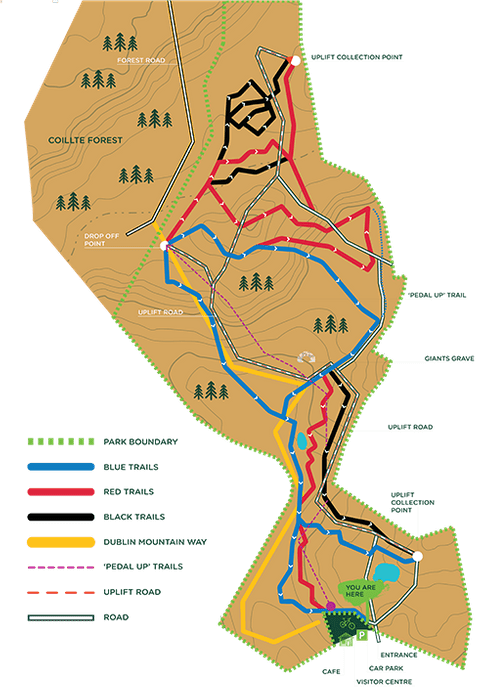 The GAP mtb trail map