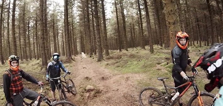 mountain bike riders in ireland