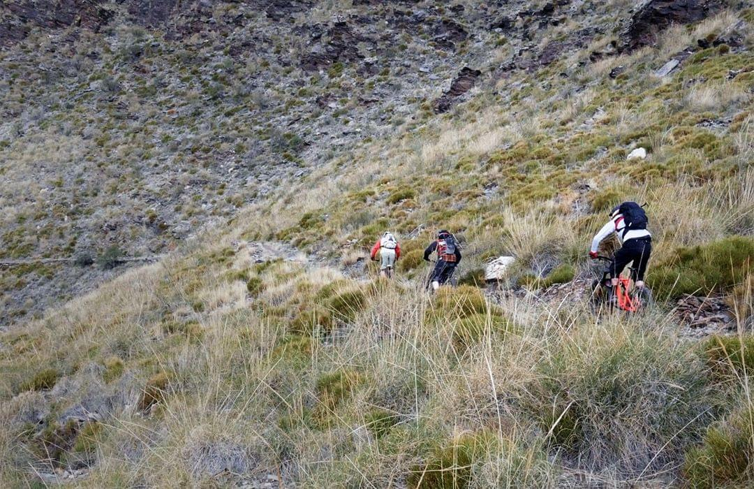 Mountain bikers in the South of Spain
