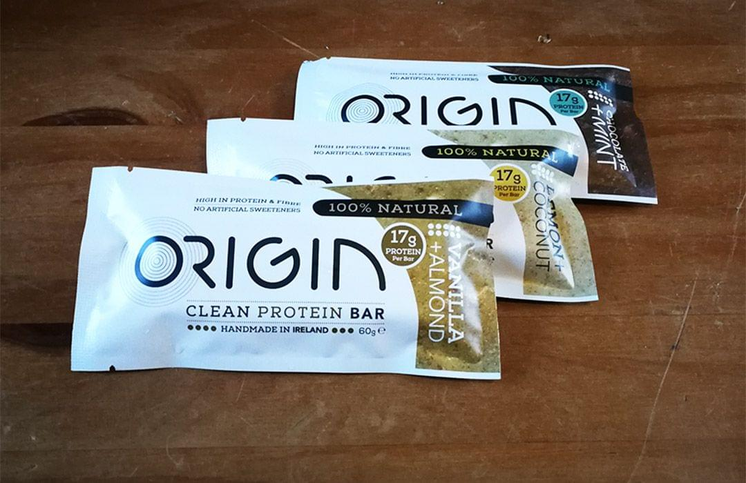 Origin Clean Protein bar flavours