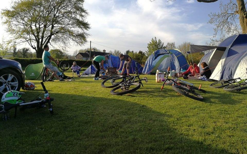 Camping at Bike Park Ireland