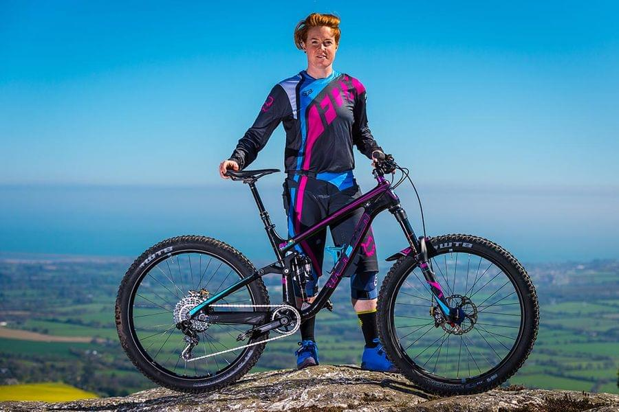 Michelle Muldoon and her Transition MTB