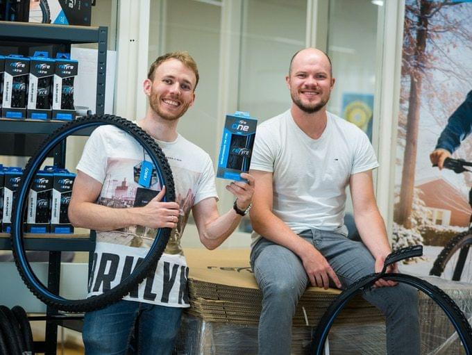 Norwegian reTyre founders and creators of the zip-on tyre for bicycles