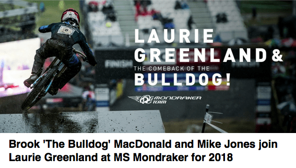 Mondraker announce Brook MacDonald 2018
