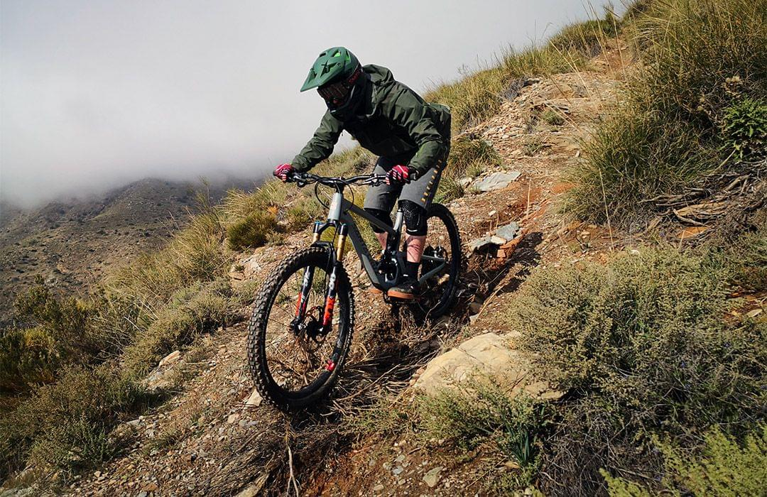 Riding mountain bikes in the South of Spain