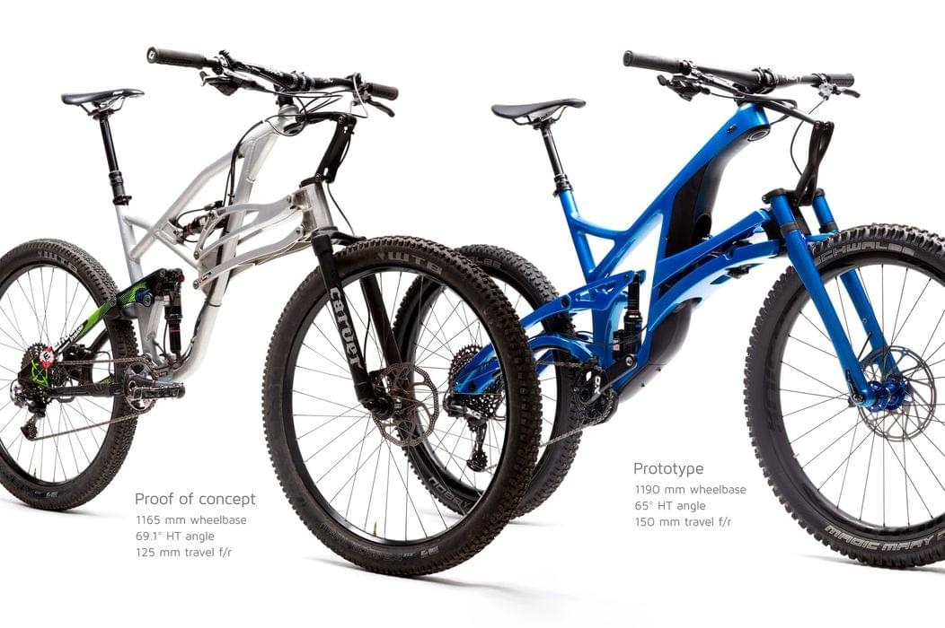 Structure from prototype to production bike