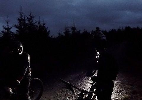 Night time mountain bike ride at Ticknock Dublin