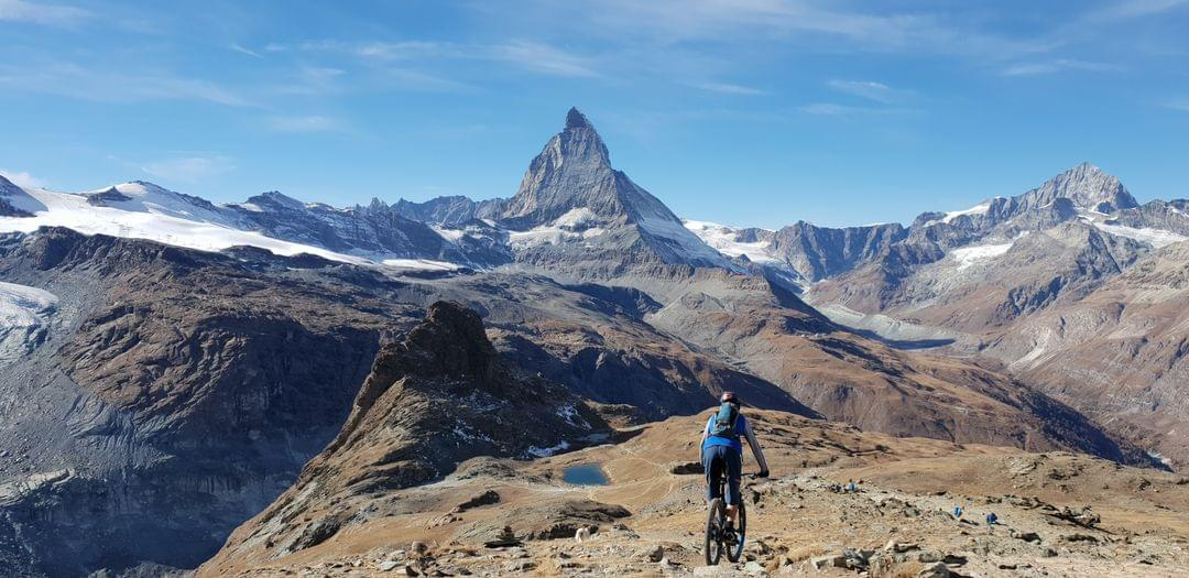 Swiss Alps mountain biking with Valais MTB Holidays