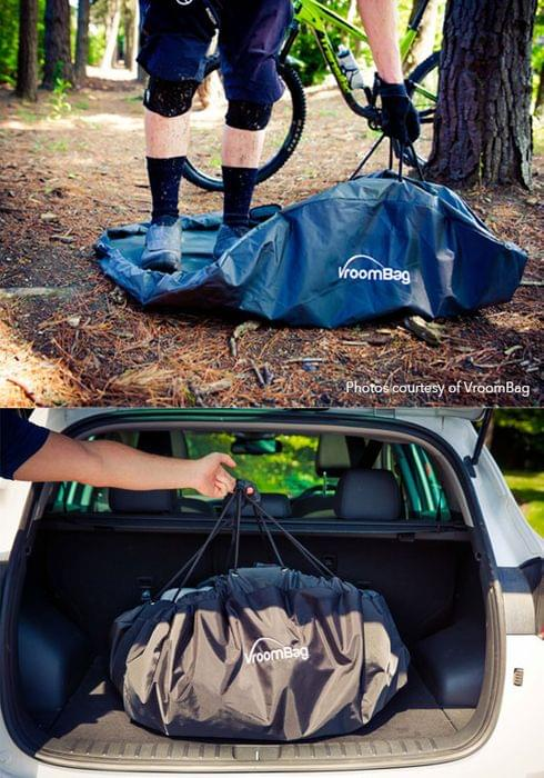 Vroombag bike changing mat and storage bag